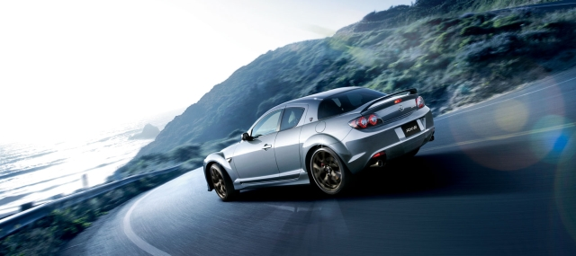 Mazda-RX-8-Sports-Car-exterior-rear-side -view-silver-2