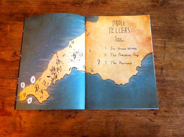 Cornwall map Droll Tellers