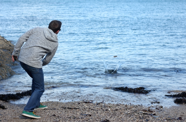 Skimming Stones and Wearing Weird Fish