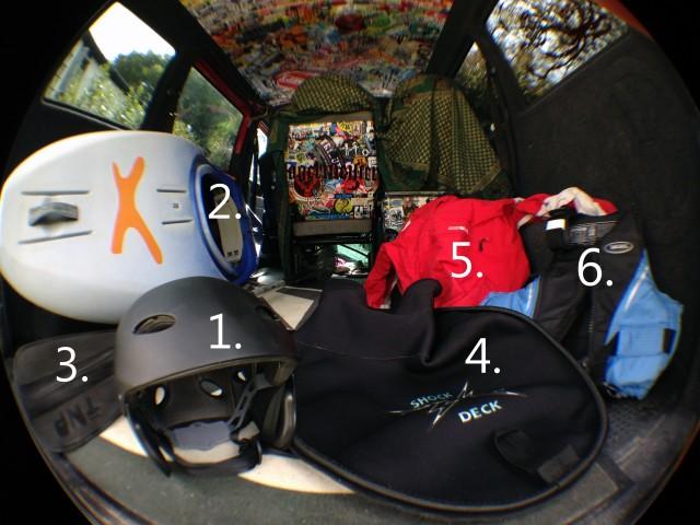 white water kayak gear