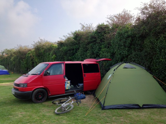 Coleman Instant Dome VW Van & Coleman Instant Dome 5 Tent Review Whilst Camping In Cornwall ...