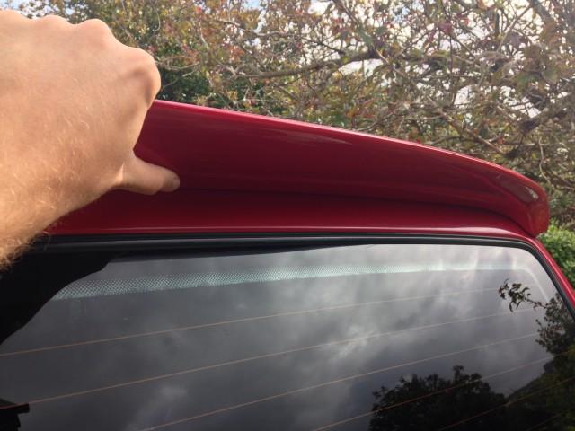 VW T4 Red Spoiler