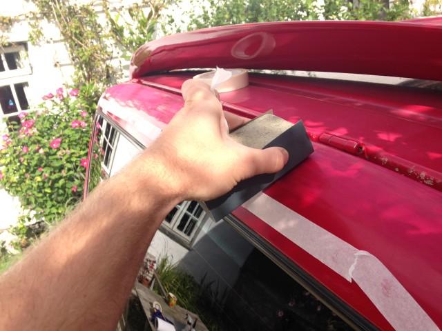 VW T4 Spoiler Red