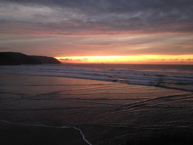 Perranporth Cornwall Sunset