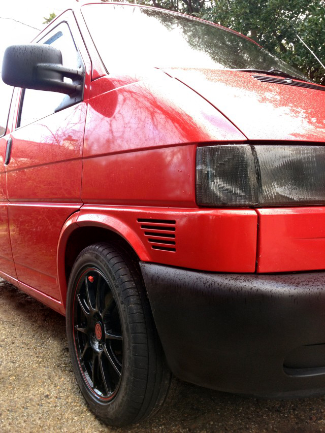 VW T4 Transporter Red