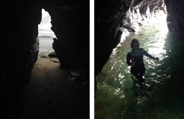 Cave Exploring Sea Falmouth Cornwall