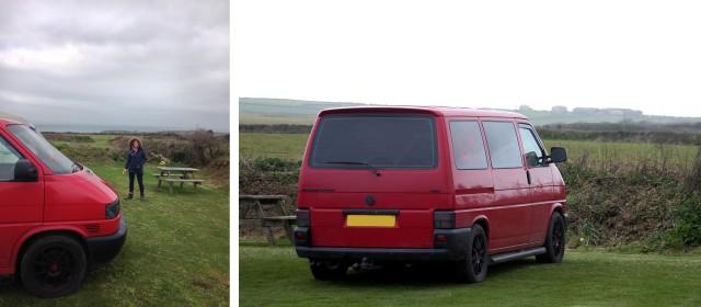 VW T4 Van Camping Treen Farm