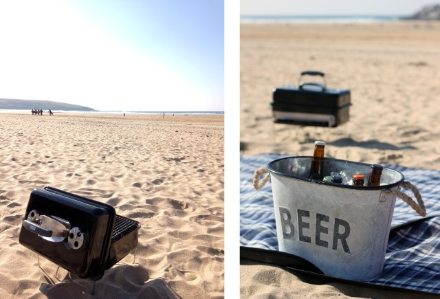 Weber BBQ and Beer Bucket Crantock Cornwall