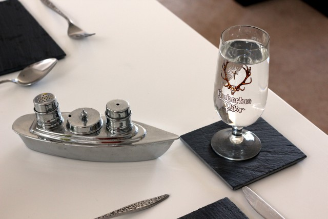 Chrome Ship Cruet Set