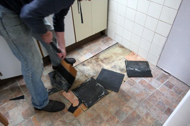 Old Vinyl Floor Tiles