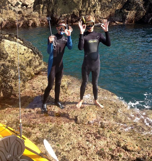 Snorkling Cornwall