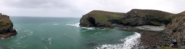 Porth Cadjack Beach Cornwall Panorama