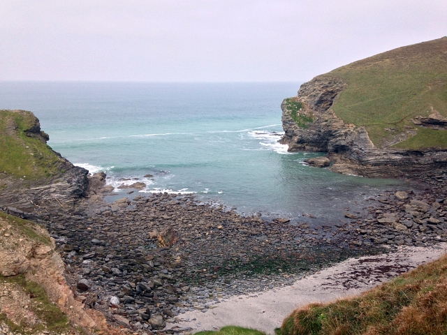 Porth Cadjack Beach Cornwall View