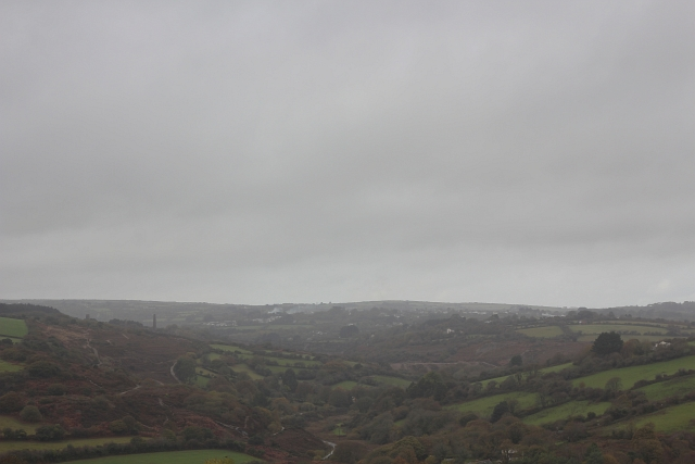 Rainy Countryside Cornwall England