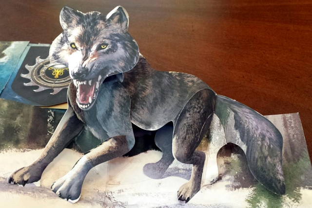 Game of thrones pop up Dire wolf