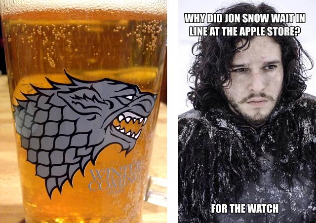 Games of Thrones Stark Glass Jon Snow