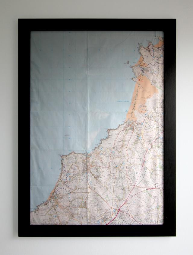 Map North Coast Cornwall Frame