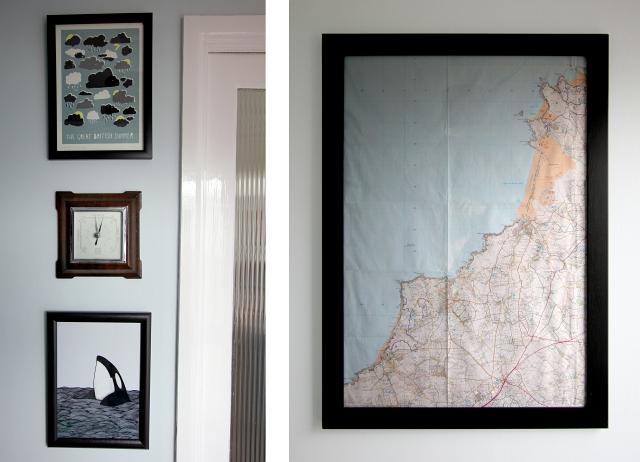Map North Coast Cornwall Frame Barometer