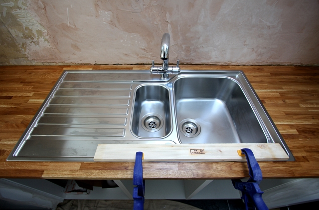 Solid Oak Worktop Frankie Sink