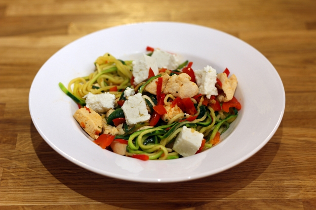 Spiralized Courgette Noodles and Chicken