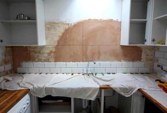 White Brick Tile Kitchen
