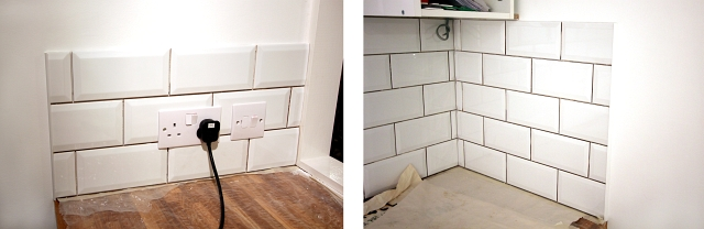 White Brick Tile Splashback