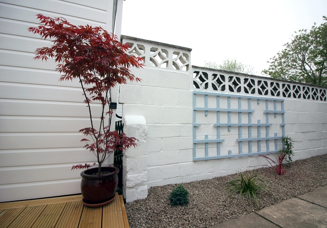 Blue Japanese Trellis