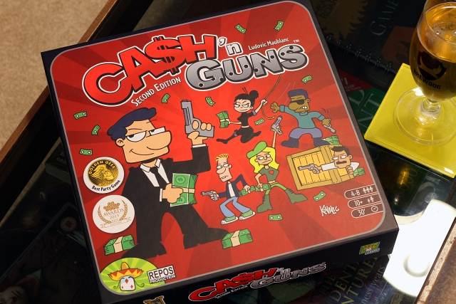 Cash and Guns Board Game Box