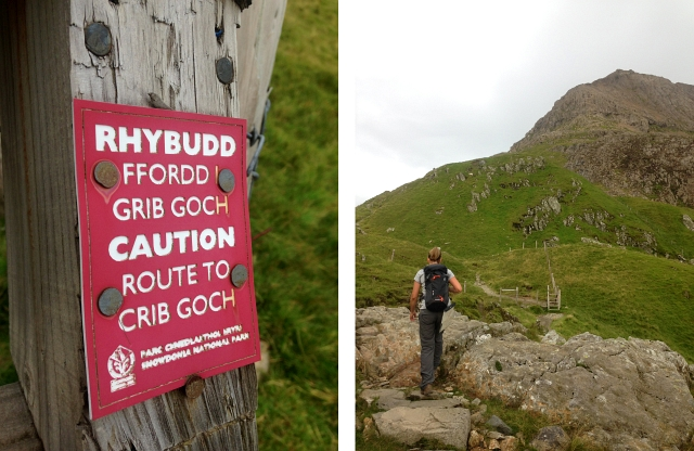Caution Route To Crib Goch