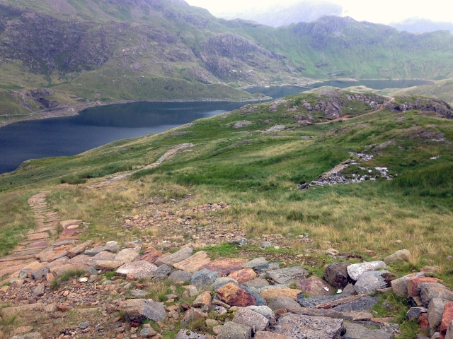 Snowdon Horseshoe Leading To Miners Track