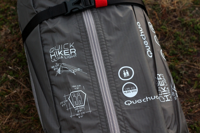 QUICKHIKER QUECHUA ULTRALIGHT 2 HIKING TENT - 2 MAN BAG