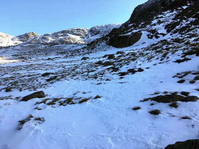 Scafell Pike Snow Fall