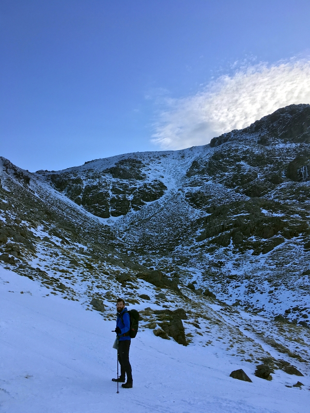 Scafell Pike Snow Mountain