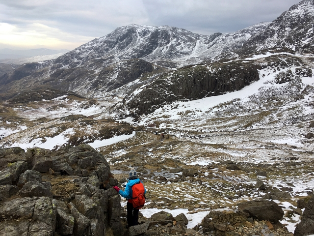 Scafell Pike Snow Walk Down