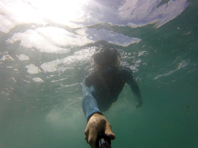 Go Pro Sea Swimming