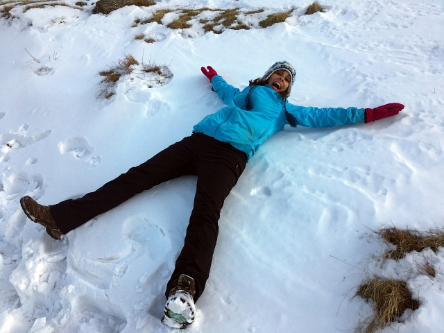 Snow Angel Scafell Pike Snow
