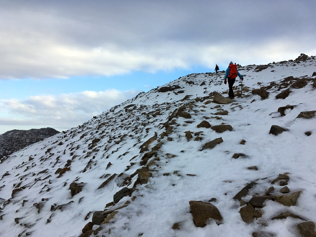 Summit of Scafell Pike Snow