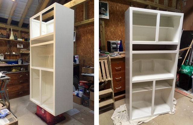 White Painted Kitchen Larder Unit