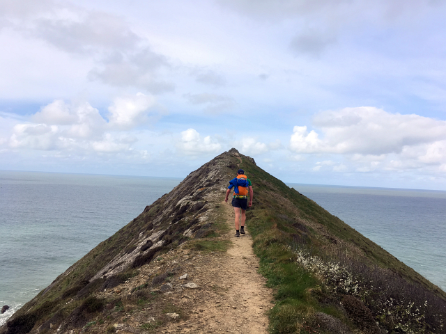 Cornwall Coastal path ridge