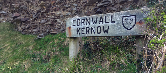 Cornwall Sign Coast Path