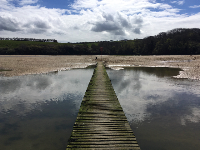 Crantock Beach Gannal Bridge