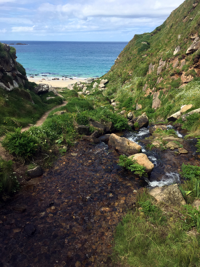Portheras Cove Waterfall