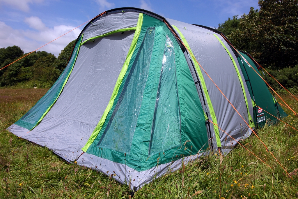 As well as a useful loop on the ceiling to hang up a lantern in the evenings I loved the storage pockets in the centre of the tent. & Coleman Rocky Mountain 5 Tent Review and More - Wild Tide