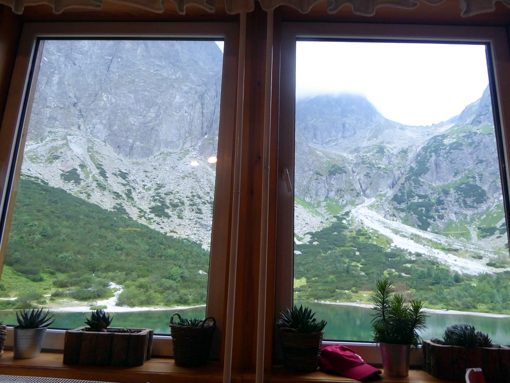 Chata pri Zelenom plese window view