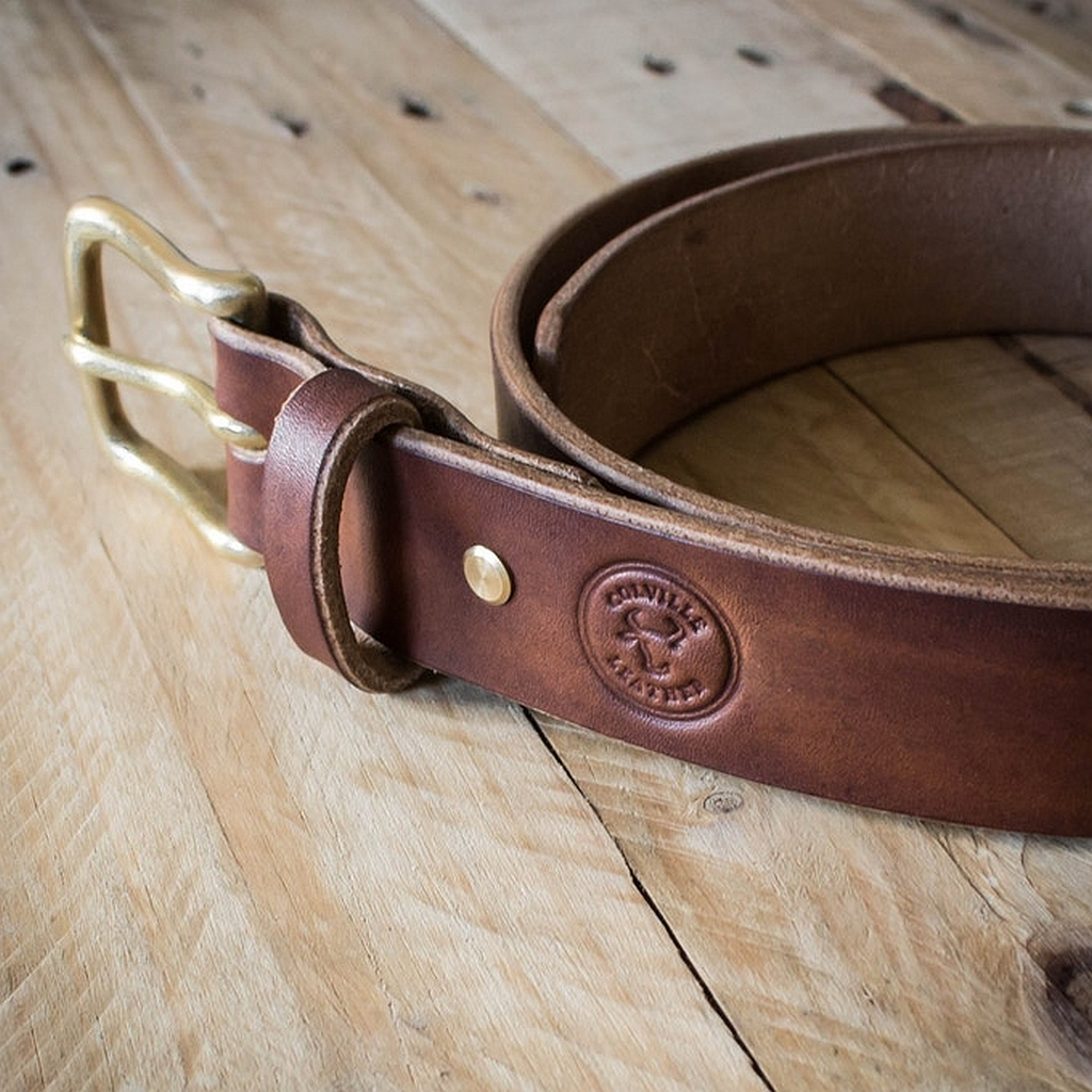 Colville Leather On KickStarter – Oak Bark Tanned Leather Belt