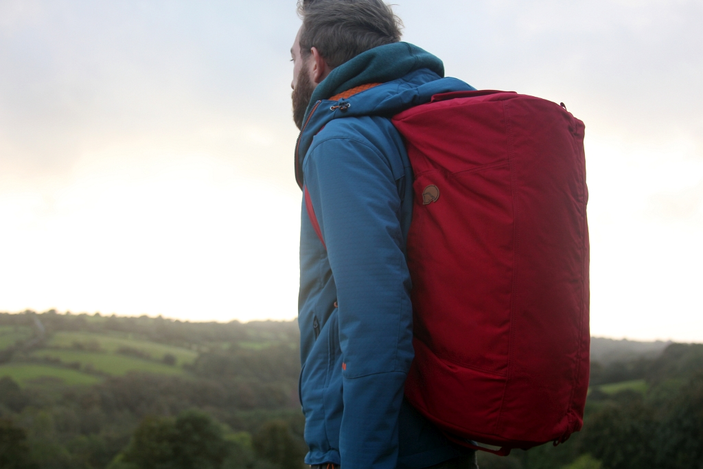 Fjallraven Splitpack Travel Packed Wearing