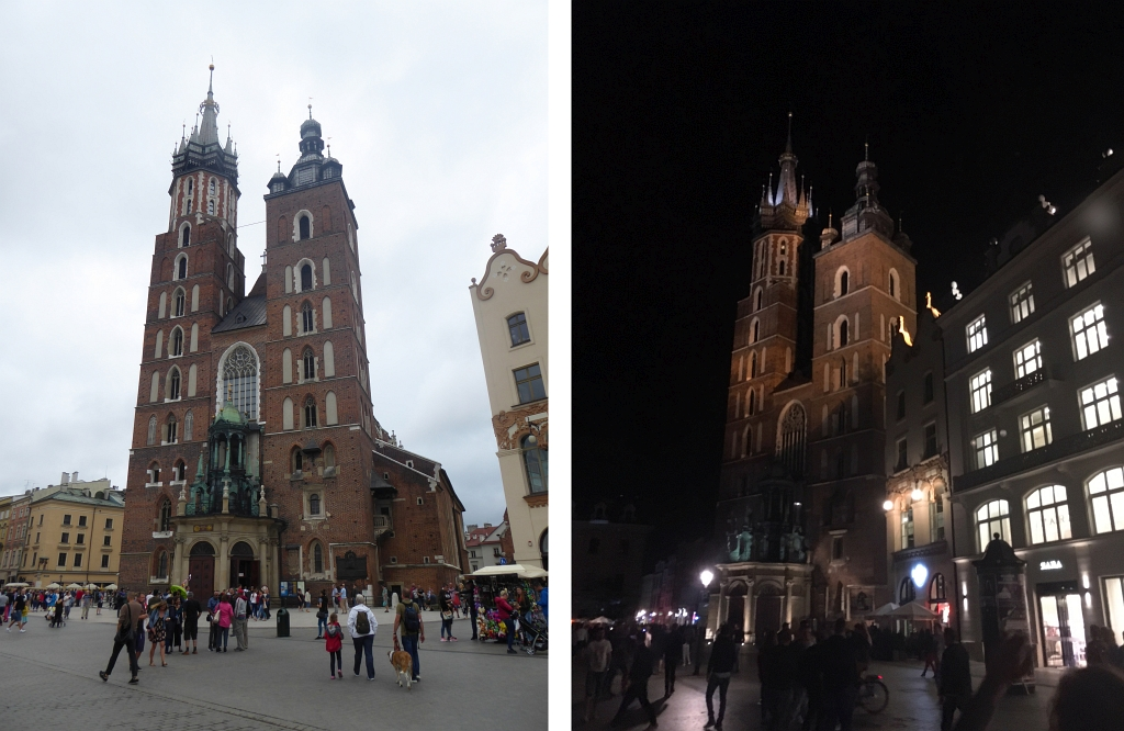 Krakow Cathedral Day and Night