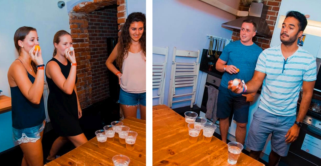 Krakow Pub Crawl Beer Pong