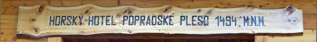 Popradské Pleso Horský Hotel sign