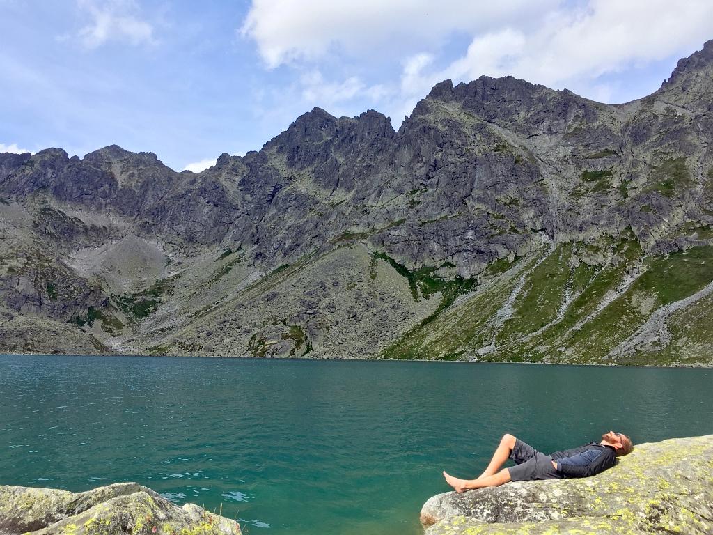 Sherpa Shorts Mountain Lake